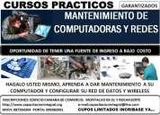 Cursos de redes y mantenimiento de computadores