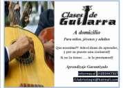 Clases de guitarra a domicilio para principiantes (niños y jovenes) 093447367
