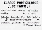 Clases particulares de piano/organo