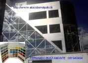 Panel de aluminio - alucobond - paneles de aluminio compuesto  instalacion, quito ecuador