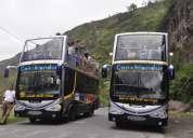 Buses panorámicos de 2 pisos en baños -tungurahua