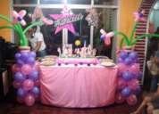 Decoración de eventos, bocaditos y pasteles
