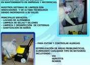 Lavado, limpieza, desinfeccion ; alfombras, sillones,cisternas,