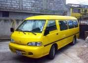 Vendo furgoneta hyundai h 100 17 pasajeros 2004