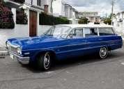 1964 impala chevrolet clasico. modelo clasico - coleccion. viajo!