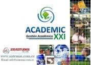 Sistema de gestión académica web