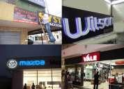 Publicidad exterior e interior, rotulos, letras en bloque