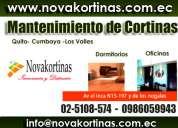 Reparacion de cortinas y persianas :: mantenimiento y lavado de cortinas en quito