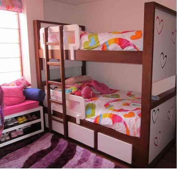Hermosas Literas y nidos para niños y niñas