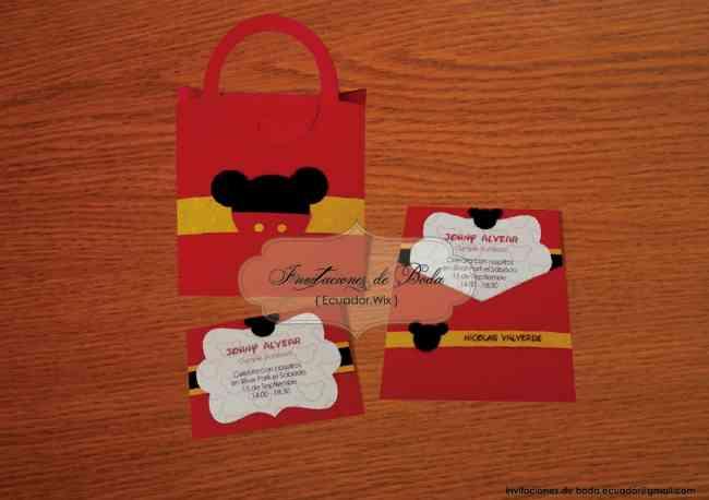 Invitación Foami Cumpleaños Mickey Imagui