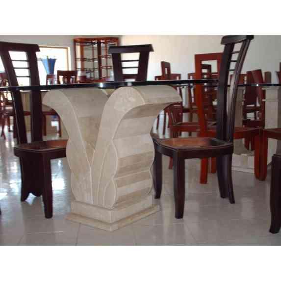 Mesa Para Comedor Marmol Beige 7 En Mercado Libre Bases De Marmol