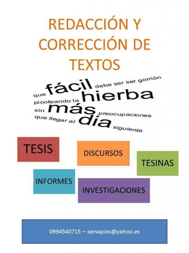 CORRECCIÓN GRAMATICAL INTEGRAL DE TEXTOS