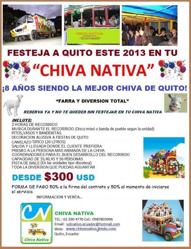 ¡Que viva Quito! con Chiva Nativa.