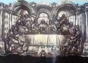 Vendo cuadro de la ultima  cena en alto relieve y resina y fibra de vidrio