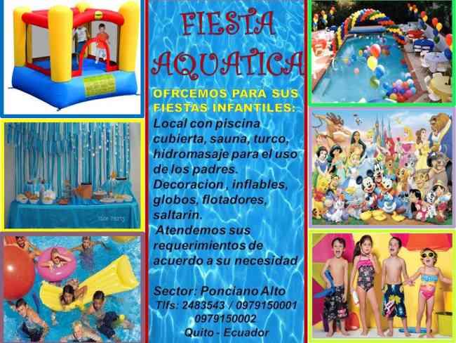 Baño Turco Domestico:FIESTAS INFANTILES EN PISCINA AQUATIC – Quito – Otros servicios