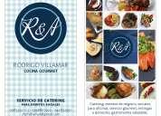 Servicios de catering para eventos sociales