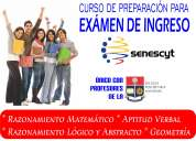 Curso de prepararación para el exámen de ingreso senescyt.