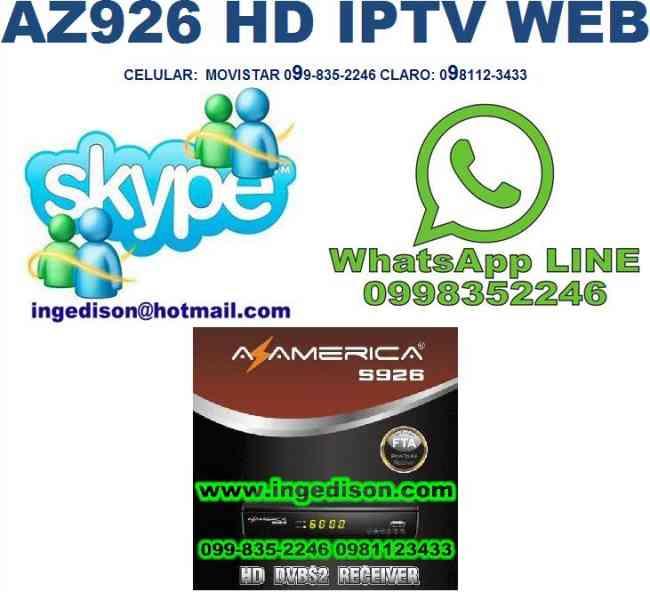 AZAMERICA S926 FULL HD IPTV , WEB BROWSIN, STREAMER FTA ORIGINALES