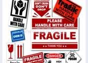 Fabricación de etiquetas adheribles, adhesivos de seguridad, pegatinas personalizadas