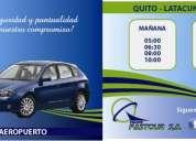 Transfastour s.a transporte ambato-quito quito-ambato tababela-ambato