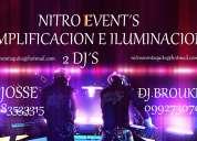 Nitroevents amplificacion e iluminacion dj discomovil quito