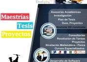 Asesorías académicas, tesis, tareas, proyectos y clases particulares