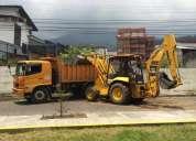 Limpieza de terrenos, desbanques, excavaciones, derrocamientos, lastrados, retroexcavadora