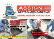 """Destape de caÑerias!   los 365 dias del aÑo  telf: 2912-117    """"garantizado"""""""
