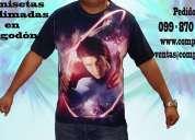 Camisetas sublimadas completas en algodón