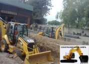Limpieza de terrenos, desbanques, excavaciones, derrocamientos, martillo hidraulico, desalojos