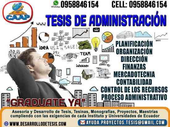 Desarrollo de Tesis de Administracion, Monografias, Tesinas y Proyectos