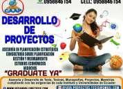 Desarrollo de proyectos, tesinas y tesis de grado