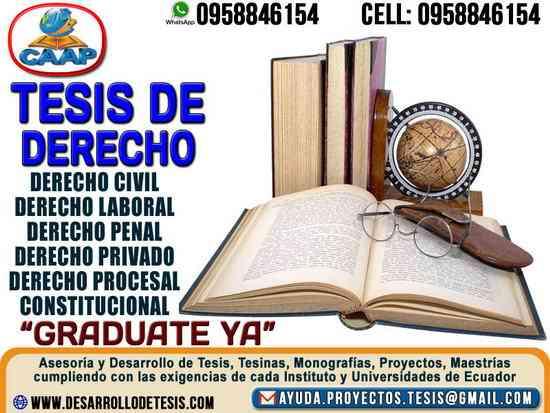 Tesis de Derecho Jurídico, Tesinas, Monografias, Proyectos, Maestrias lo hacemos por ti