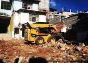 Limpieza de terrenos, retroexcavadora (gallineta), desbanques, derrocamientos de casas