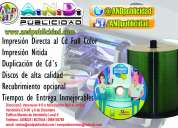 Servicio de duplicación e impresión de discos corporativos
