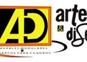 Arte & diseño (muebles modulares y marcos para cuadros)