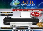 Plotter hp designjet t120 con porta rollo, wifi, a1 a4