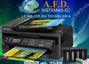 Impresora epson workforce 2540 con sistema de tinta continua