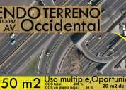 Terreno de venta av occidental  1350 m2 cel.- 0985813087