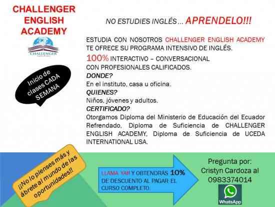 Cursos De Ingles 2x1 Challenger English Academy Quito Doplim 410350