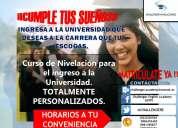 Cursos de ivelaciÓn para el ingreso a la univerdad ¡¡cumple tus sueÑos!!
