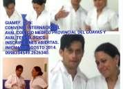 auxiliar de enfermeria. curso teorico.practico.aval colegio medico. aval tecnologico. convenio inter