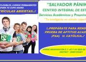 Cursos nivelaciÓn ingreso u. catÓlica. prueba paa
