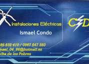 Se ofrecen instaladores electricistas