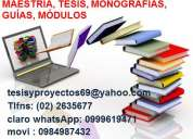 Consultoría en maestría tesis planes proyectos monografías e investigaciones una oportunidad de t