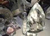 lámpara italiana de bronce y cristal de murano