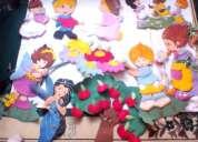 Figuras infantiles fomix y 2 de madera