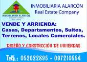 Inmobiliaria alarcón necesita arrendar casas, departamentos, suites sector residencial