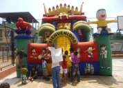 Inflable super tobogan bob esponja...........super rentable