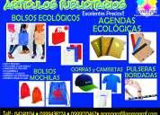 Bolsos ecologicos en cambrela agendas gorras y muchos articulos publicitarios